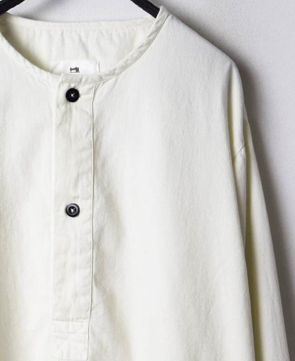 INHT1501CT COTTON TWILL OVERDYE HENLY NECK SHIRT