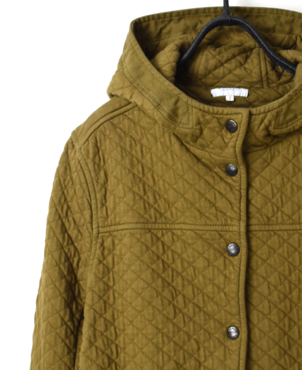 NAM0555 COTTON QUILT HOODED JACKET