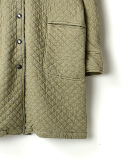 NAM1486 COTTON QUILT NO COLLAR COAT