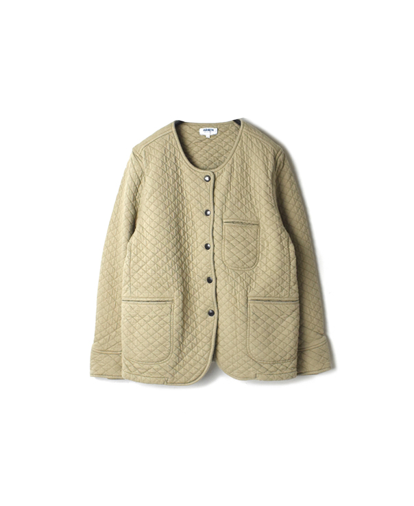 NAM1407 COTTON QUILT NO COLLAR JACKET
