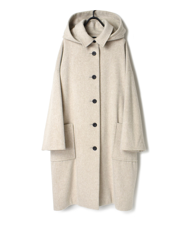 JNMDS1951B WOOL DETACHABLE HOODED COAT