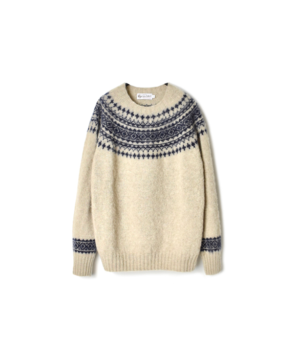 NJT1661 HEAVY BRUSH NORDIC CREW NECK PULLOVER