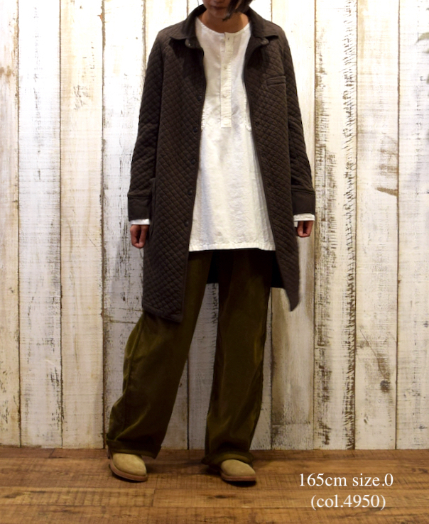NAM0362 COTTON QUILT SHIRTS COLLAR COAT