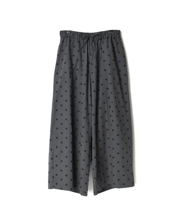 NSL20535 40'S POPLIN DOT PRINT EASY PANTS