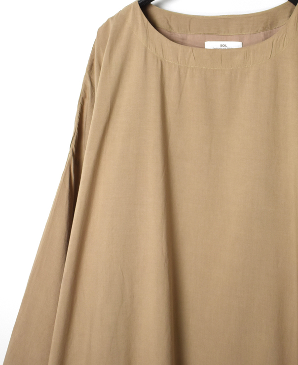 NSL20563 FRENCH RAYON CREW NECK DRESS
