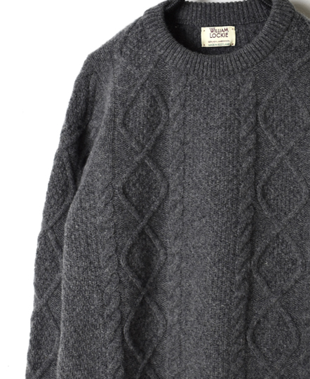 NWL1761 ARAN CREW NECK SET IN SLEEVE PULLOVER