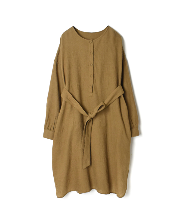 NMDS20563 BOILED WOOL PLAIN LONG PULLOVER SHIRT
