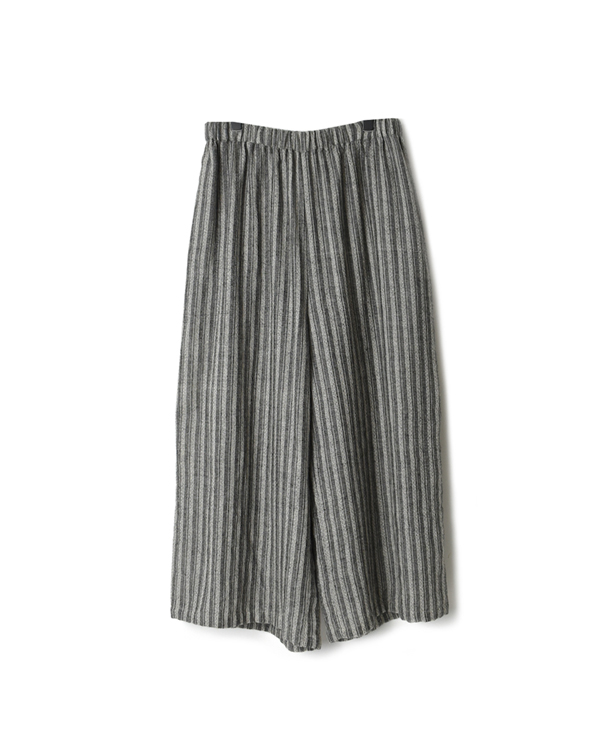NMDS20575 BOILED WOOL HERRINGBONE STRIPE EASY PANTS