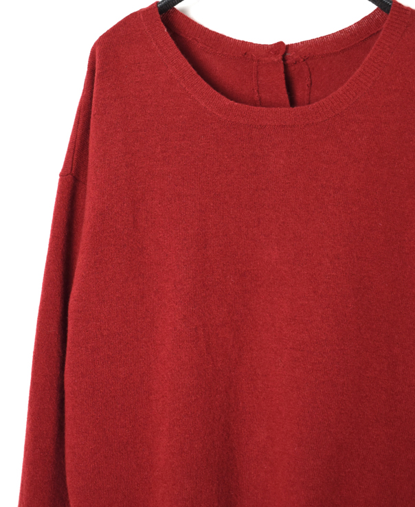 GNSL19511 1PLY LAMBS WOOL 2WAY PULLOVER