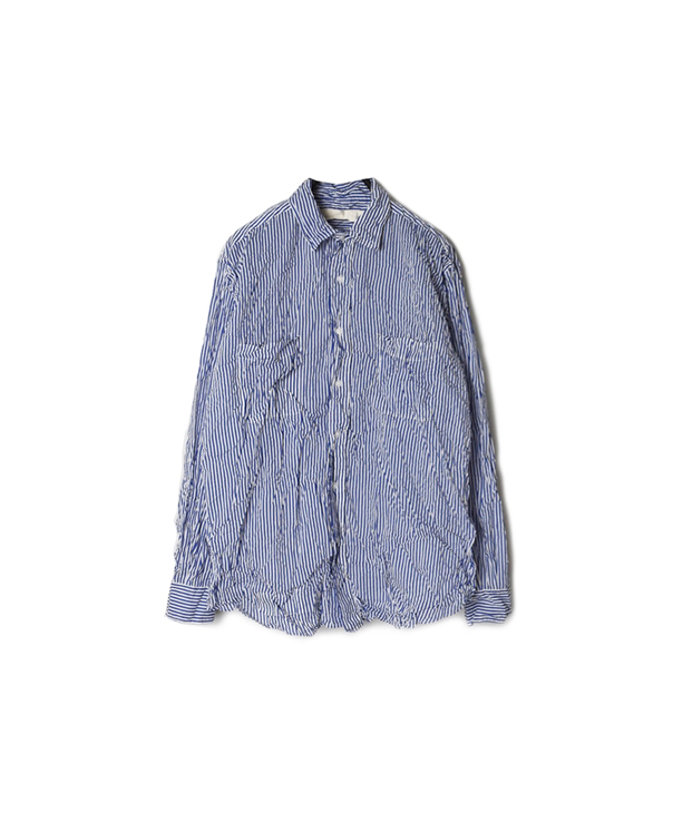 NVL1861SW PRINTED CAMBRIC REGULAR COLLAR L/SL OVERSIZED SHIRT