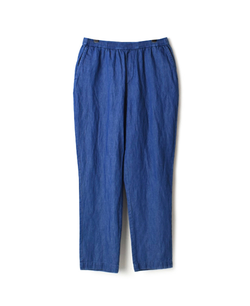 GNMDS2101CL WASHED COTTON LINEN EASY TAPERED PANTS