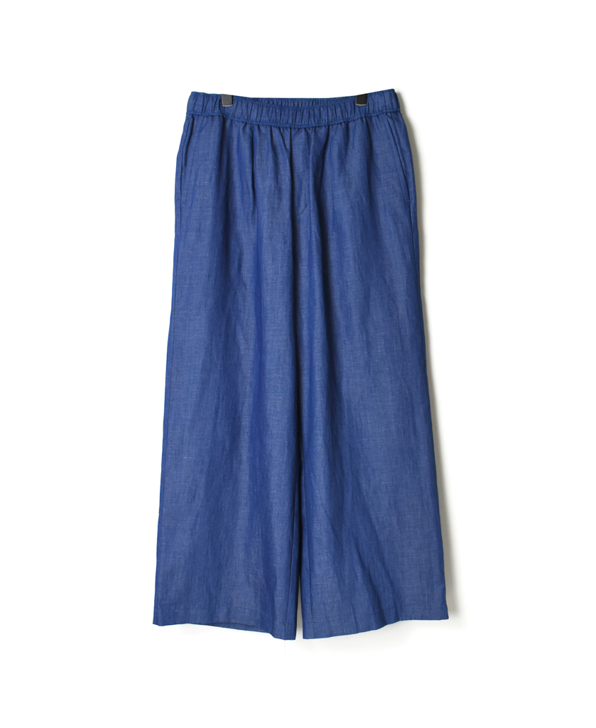 GNMDS2102CL WASHED COTTON LINEN EASY WIDE PANTS