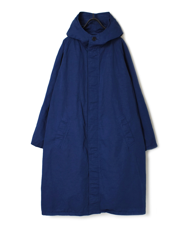 NHT1701CL COTTON LINEN HOODED COAT