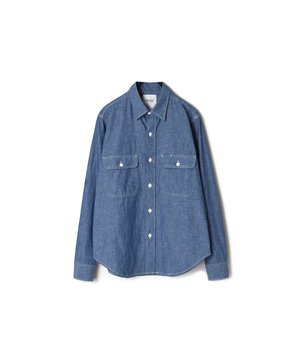 GNAM2101 5oz CHAMBRAY REGULAR COLLAR SHIRT