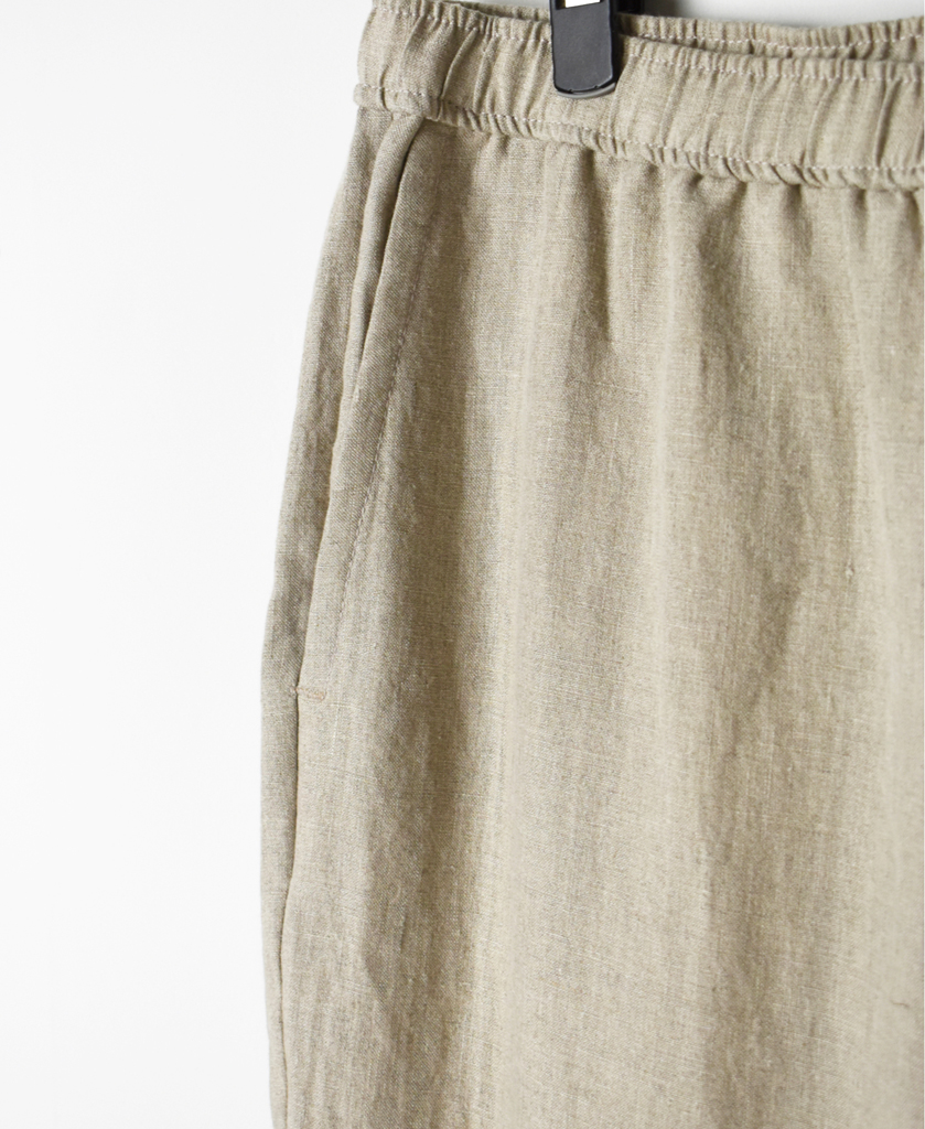GNMDS2101LP LINEN EASY TAPERED PANTS