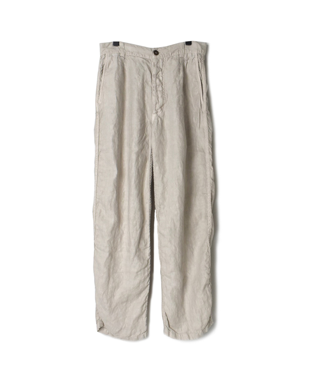 NAM1203LH LINEN HERRINGBONE ONE-TUCK PANTS
