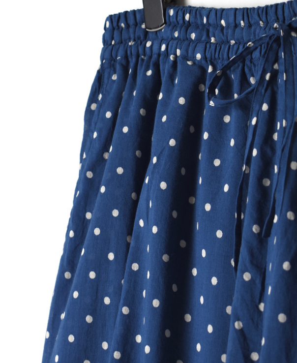 NSL21026 COTTON VOILE DOT PRINT EASY PANTS