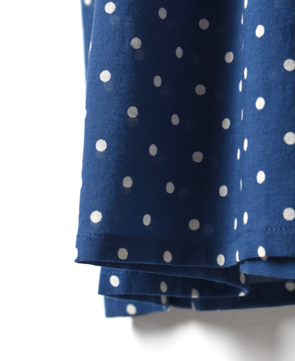 NSL21024 COTTON VOILE DOT PRINT BANDED COLLAR DRESS