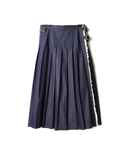 NOD1801 LOW WAIST PLEATS WRAP SKIRT LENGTH 80cm
