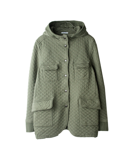 NAM0753 COTTON QUILT HOODED 4POCKET JACKET