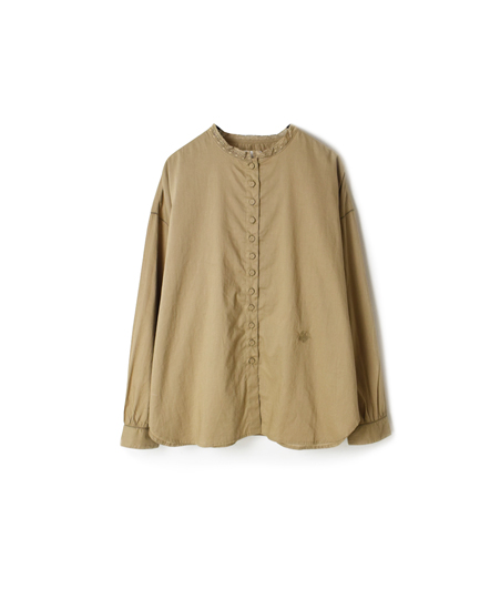 NMDS18021 ORGANIC CAMBRIC LACE&BUTTON SHIRT
