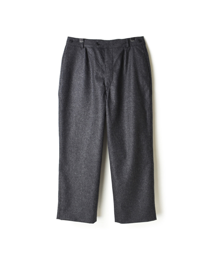 GNMDS1751W COMFORTABLE CROPPED PANTS WOOL/NYLON