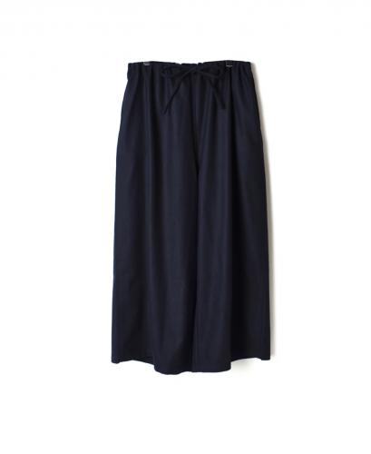 NHT1764WP WOOL PLAIN WIDE EASY PANTS