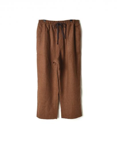 NHT1861WP WOOL PLAIN EASY PANTS