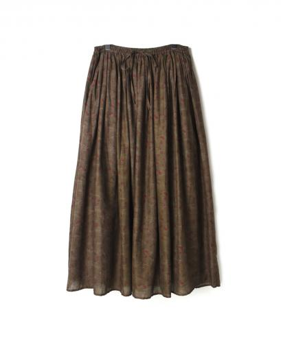 NSL19605 DYED VOILE FLOWER PT GATHERED SKIRT