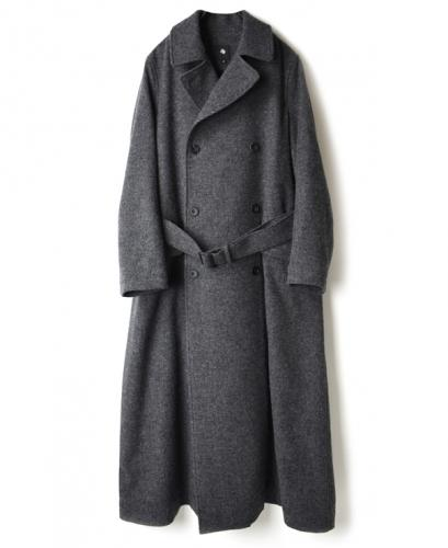 JNMDS1651T BRITISH WOOL TWEED DOUBLE BREASTED COAT