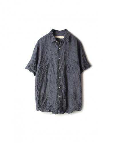 NVL1801HW HAND WOVEN COTTON REGULAR COLLAR S/SL OVERSIZED SHIRT