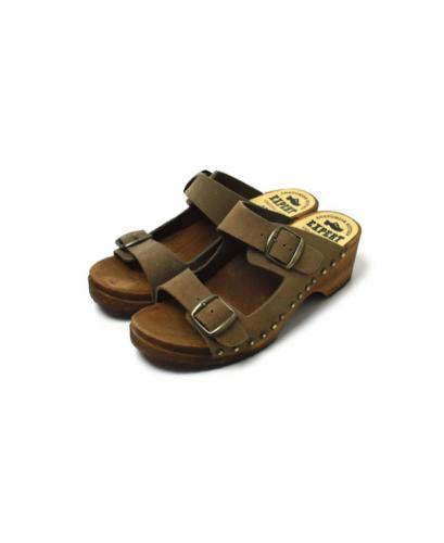 ANEP1801S DOUBLE BUCKLE SANDAL WITH STUDS
