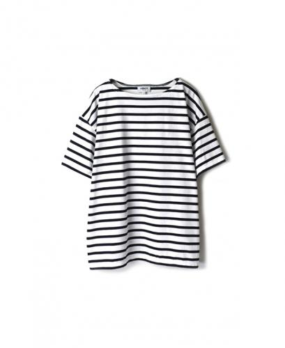 NLA2002W REGULAR STRIPE S/SL DROP SHOULDER BASQUE SHIRT