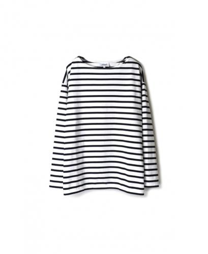 NLA2001W REGULAR STRIPE L/SL DROP SHOULDER BASQUE SHIRT