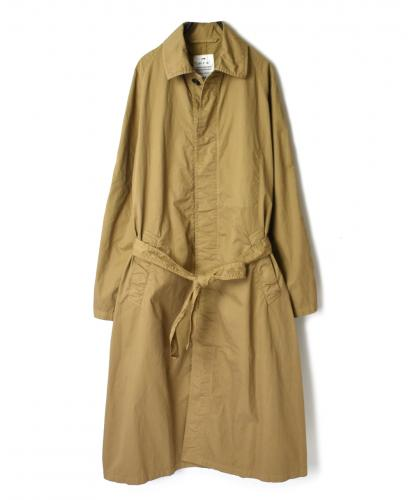 NHT2011 COTTON TWILL BALMACAAN COAT WITH BELT