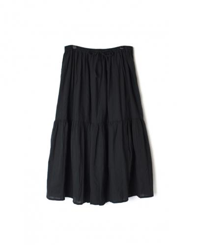 NSL20045 COTTON DOBIE STRIPE GATHERED SKIRT