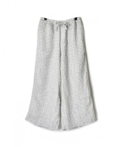 NAM1862LCT LINEN CHECK EASY PANTS