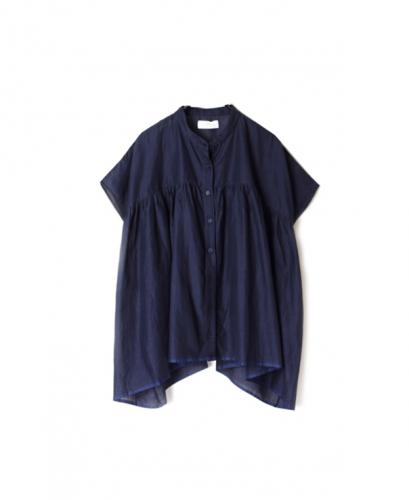 NSL20003 SUPER FINE VOILE GATHERD SHIRT