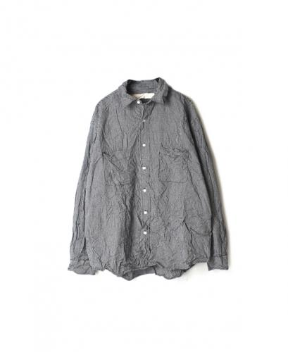 NVL1861CW GINGHAM CHECK L/SL OVER-SIZED SHIRTS