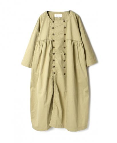 NMPA1711B DOUBLE BREASTED 3/4 SLEEVE SMOCK DRESS