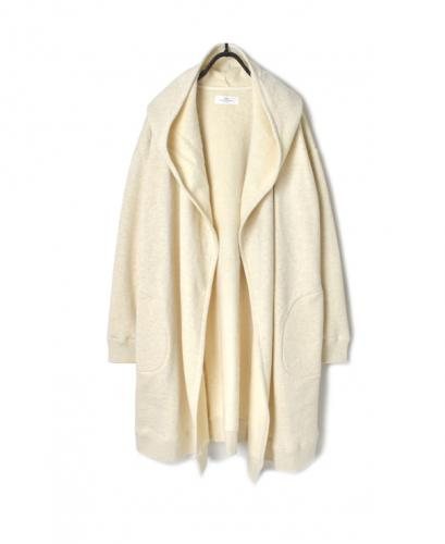 GNSL20531 PLAIN SWEAT HOODED CARDIGAN