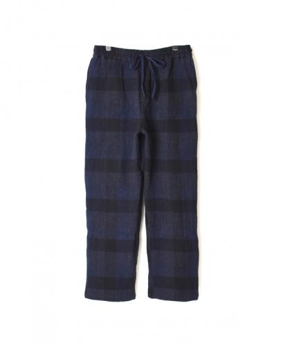 INHT1861WC COTTON WAFFLE BLOCK CHECK OVERDYE EASY PANTS