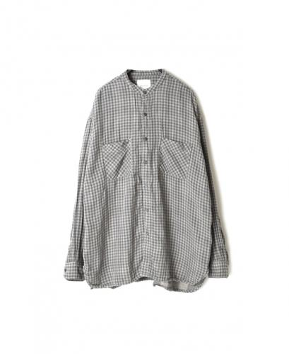INAM1971DGD DOUBLE GAUZE OVER DYE UTILITY BANDED COLLAR SHIRT