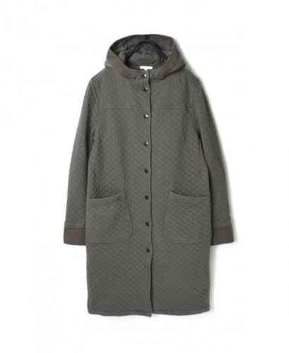 NAM0553 COTTON QUILT HOODED COAT