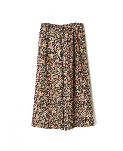 NMDS20513F QUILTED SILK FLOWER EASY PANTS