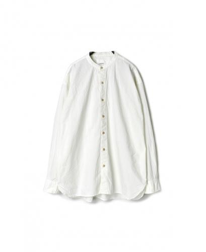 INAM1702PD 40'S POPLIN UTILITY BANDED COLLAR SHIRT