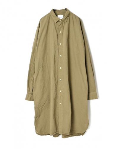 INAM2001PD 40'S POPLIN UTILITY REGULAR COLLAR LONG SHIRT
