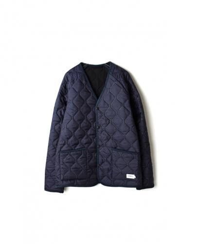 NAM1754 PLAIN HEAT QUILT V-NECK JKT