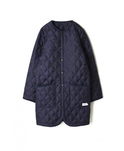 NAM1651PP PLAIN HEAT QUILT NO COLLAR COAT