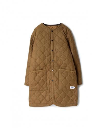 NAM1651WJ WOOL×POLYESTER HEAT QUILT NO COLLAR COAT